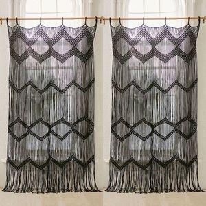 Urban Outfitters Meadowsweet Macramé Panel Black
